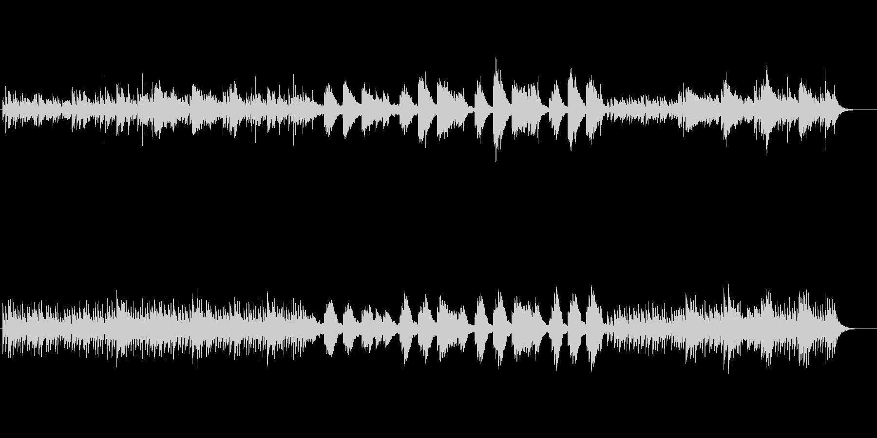 雨をイメージしたピアノBGMの未再生の波形