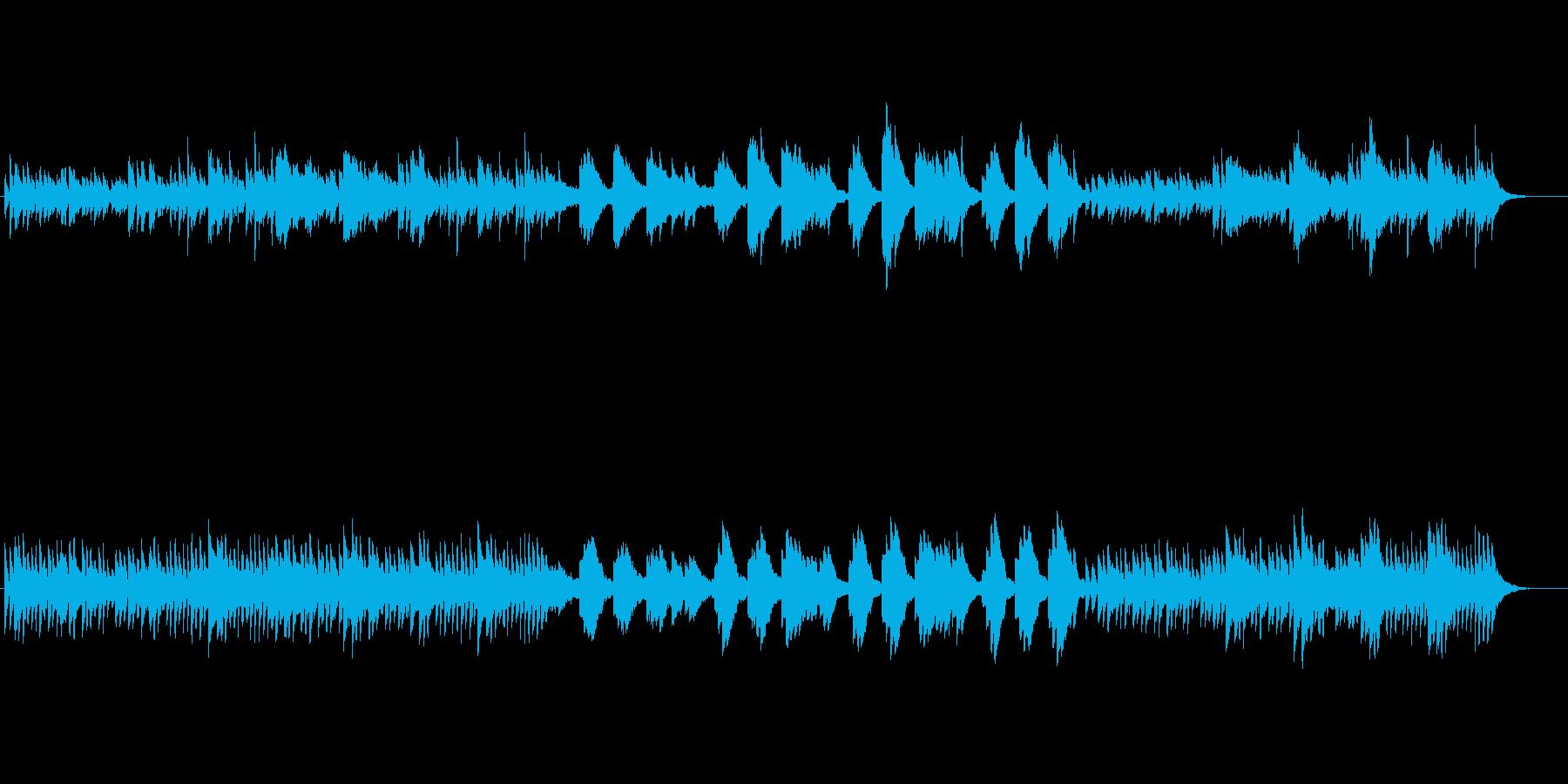 雨をイメージしたピアノBGMの再生済みの波形