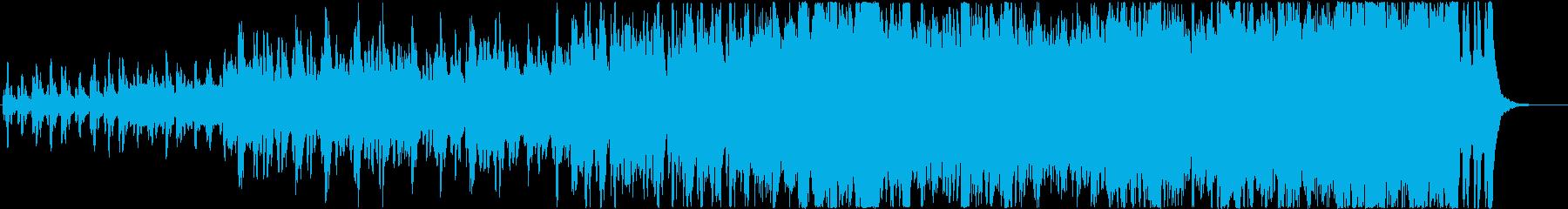 前向きで感動的なオーケストラ曲の再生済みの波形