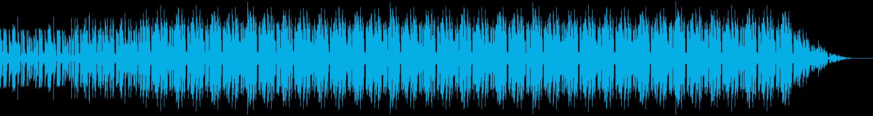 アップテンポなアクションゲームBGMの再生済みの波形