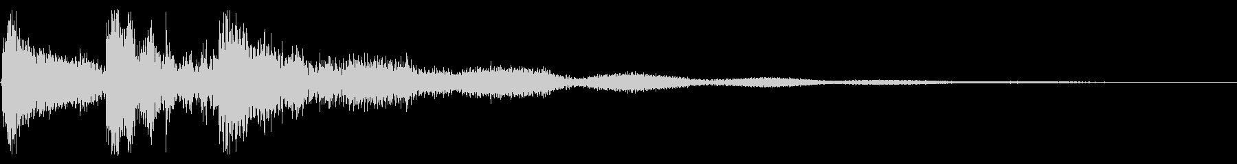 ダーク テレロン トイピアノの未再生の波形