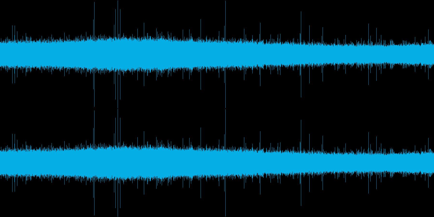 雨音(激しめ&雨垂れ)の再生済みの波形