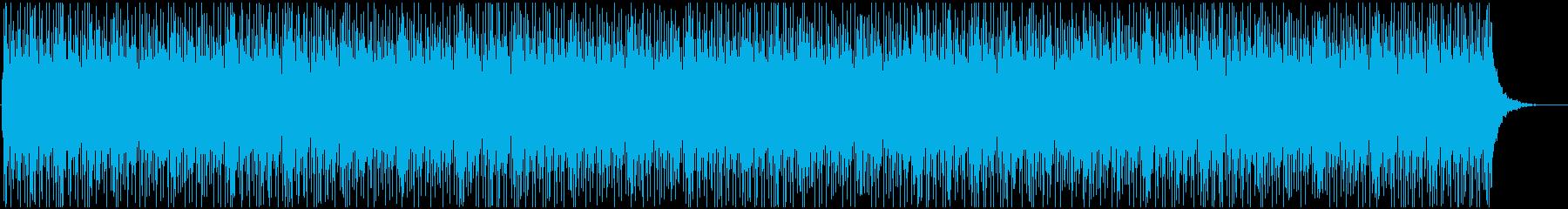 動画BGMに使いやすい爽やかなリフ曲の再生済みの波形