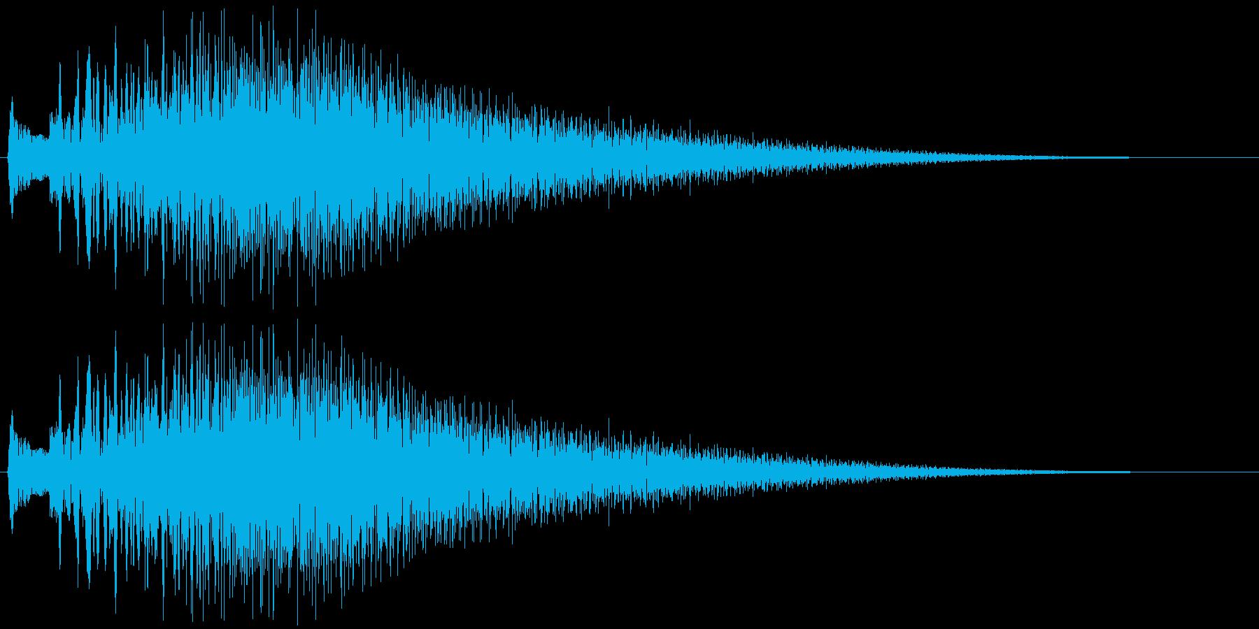 キラキラ...。輝く・変身する音Aの再生済みの波形
