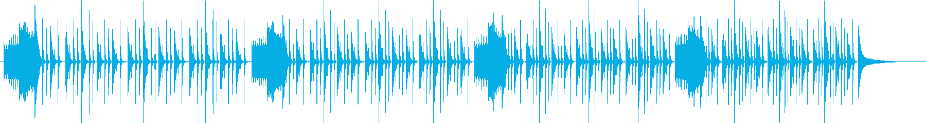 シンキングタイム、テンポアップの再生済みの波形
