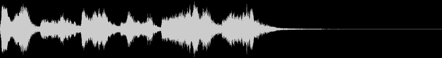 オーケストラによる明るいジングルの未再生の波形
