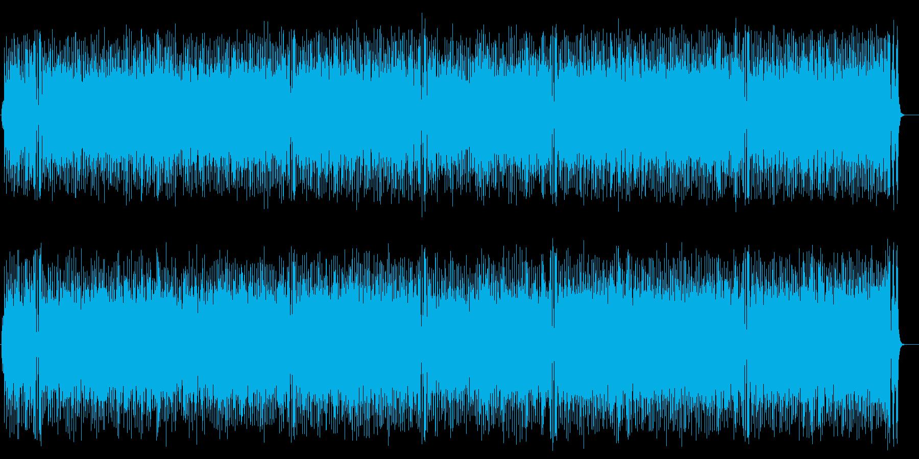 ワールド系サンバ風BGM(フルサイズ)の再生済みの波形