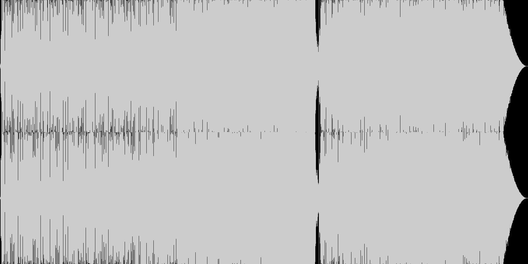 マイケルジャクソン風のR&B風トラックの未再生の波形