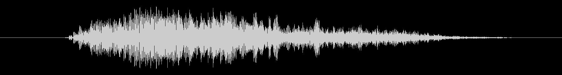 大型モンスターの声 ダメージ グアァ Sの未再生の波形