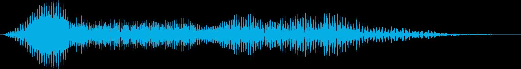 【生録音】カーッというカラスの鳴き声の再生済みの波形