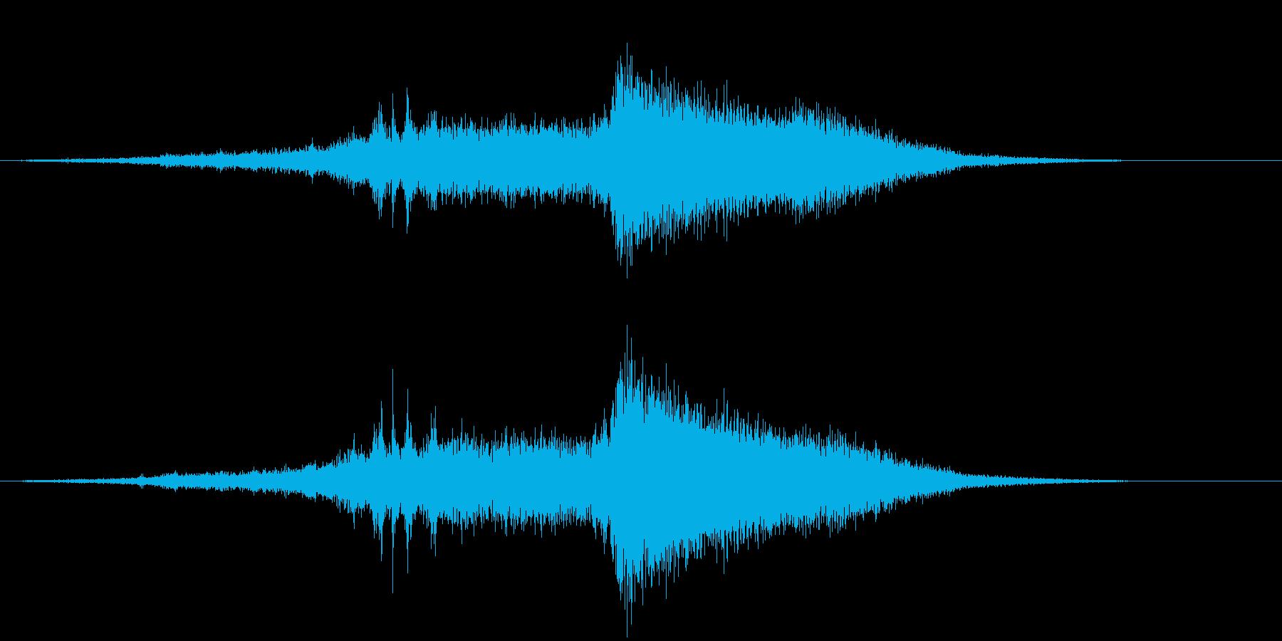 ハンビー:ガラガラとゆっくり。の再生済みの波形