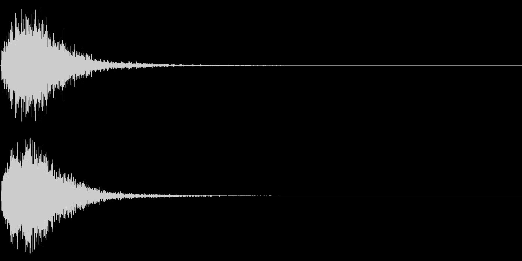 デデーン♪オーケストラヒット効果音01bの未再生の波形