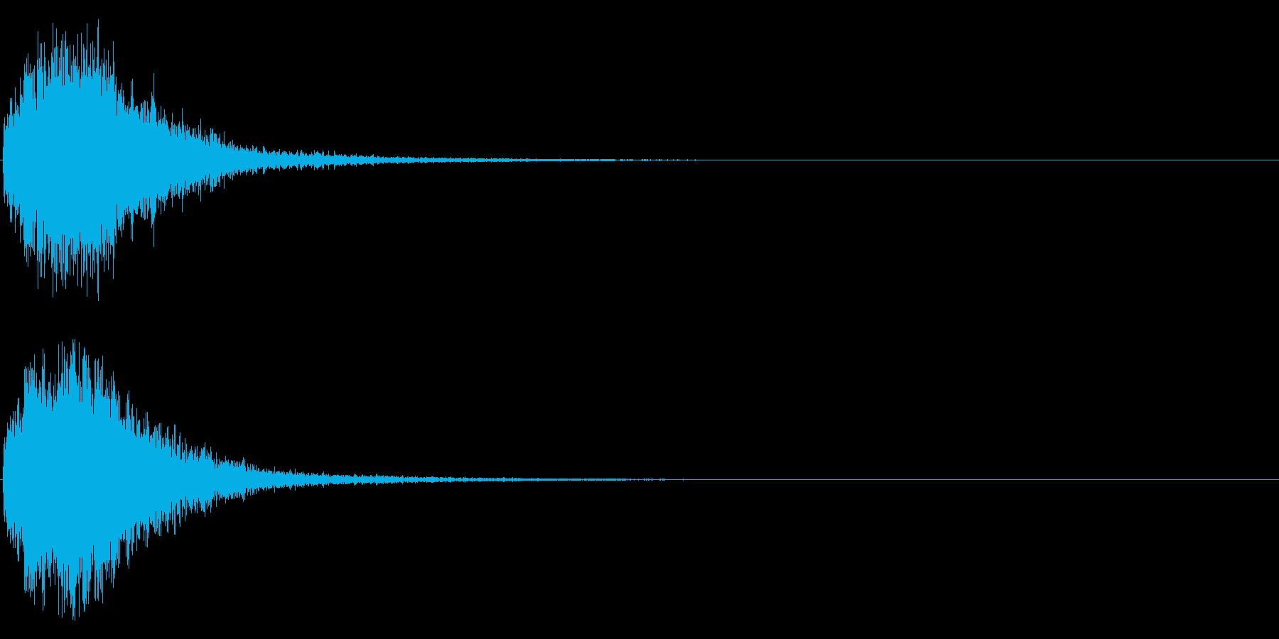 デデーン♪オーケストラヒット効果音01bの再生済みの波形