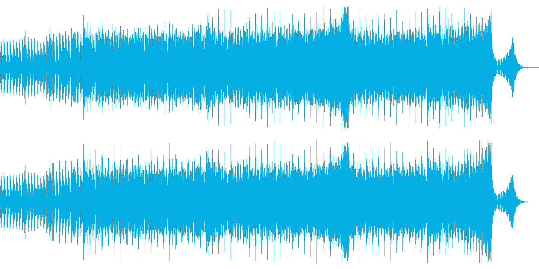 エレクトロな予告ジングルの再生済みの波形