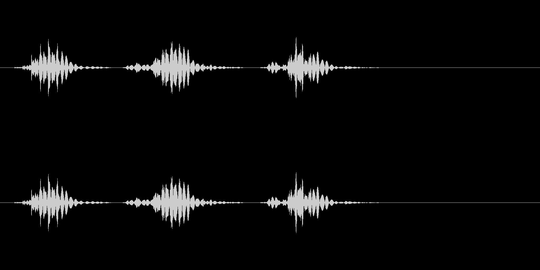 【生活音】マウスホイールまわすの未再生の波形