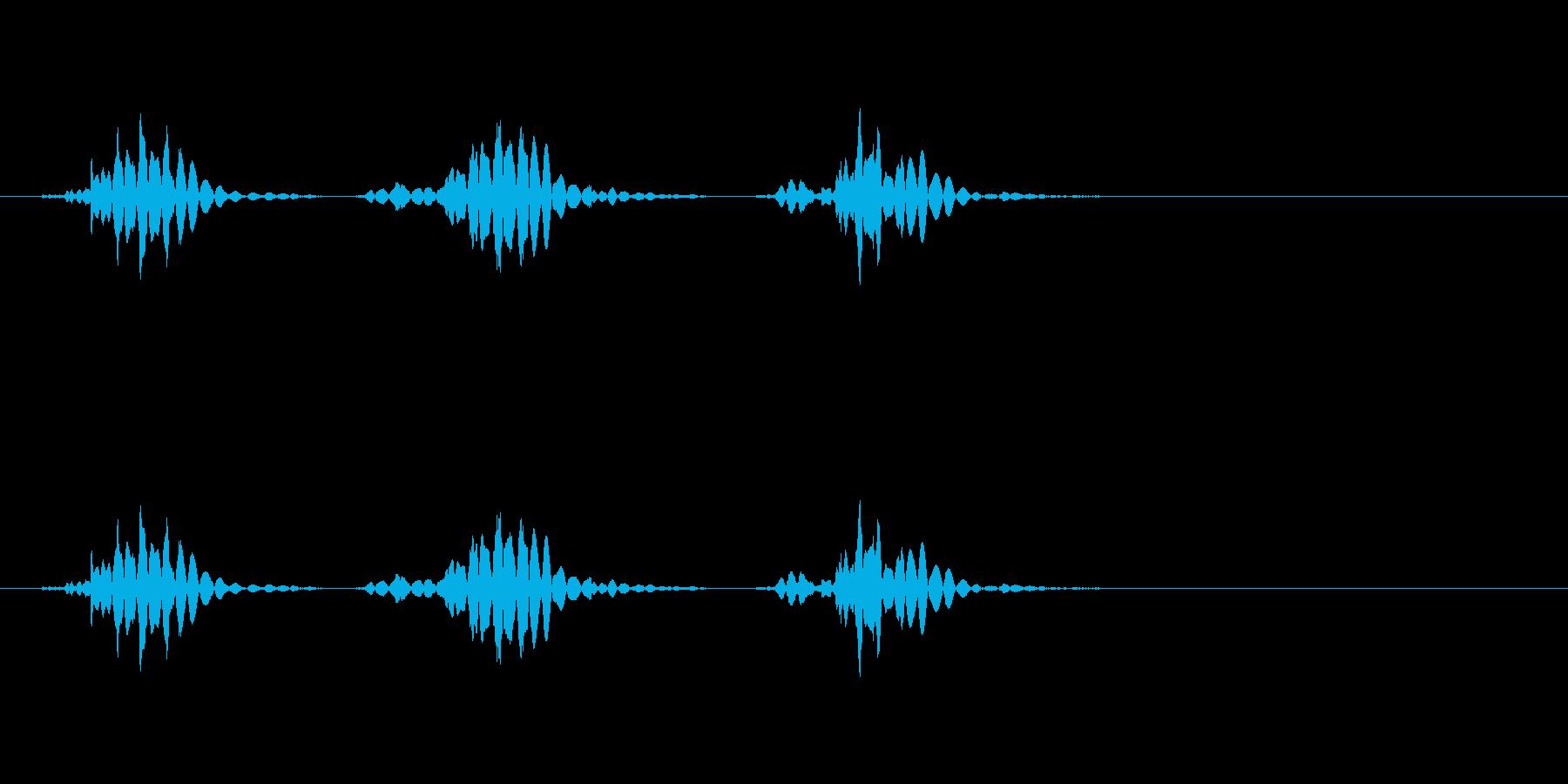 【生活音】マウスホイールまわすの再生済みの波形