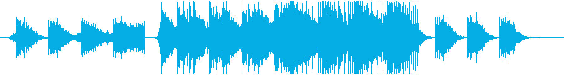 Action Musicの再生済みの波形