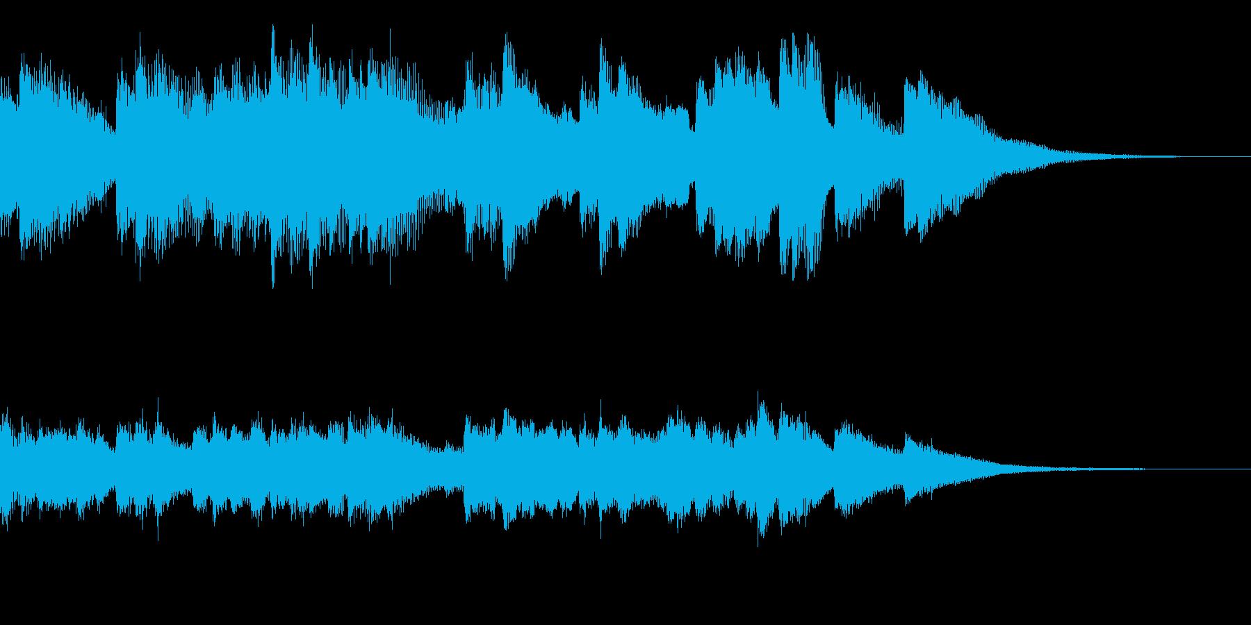 15秒ジングル、ピアノとベル 目覚めの朝の再生済みの波形