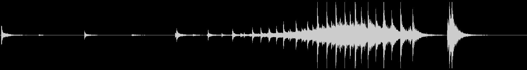 拍子木や鈴などのオープニングに最適な音源の未再生の波形