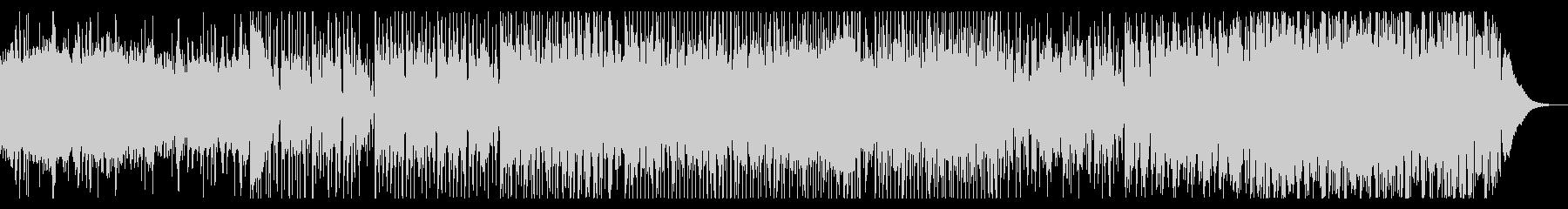 ギターとドローンのシネマティックBGMの未再生の波形