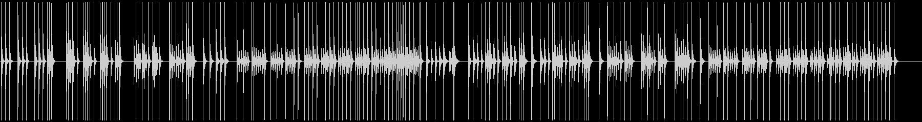 素朴にリズミカルな動き映像にほのぼの軽快の未再生の波形