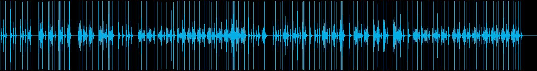 素朴にリズミカルな動き映像にほのぼの軽快の再生済みの波形