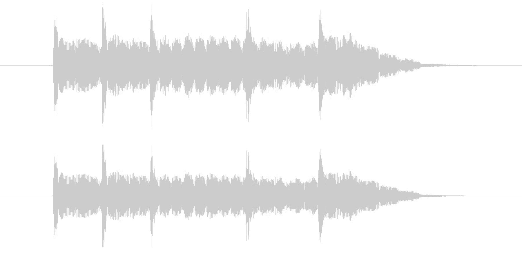 かわいいサウンドロゴ アイキャッチ電子音の未再生の波形
