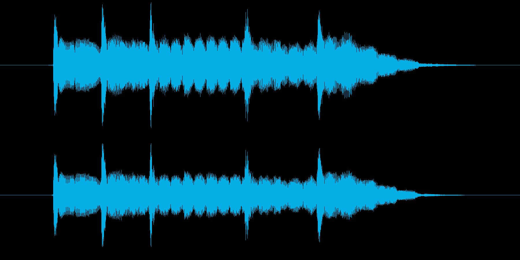 かわいいサウンドロゴ アイキャッチ電子音の再生済みの波形