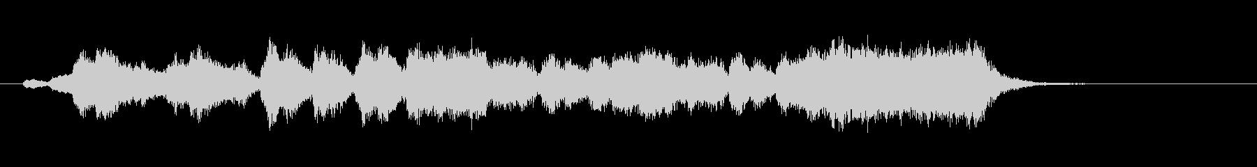 金・打楽器による華やかなファンファーレの未再生の波形