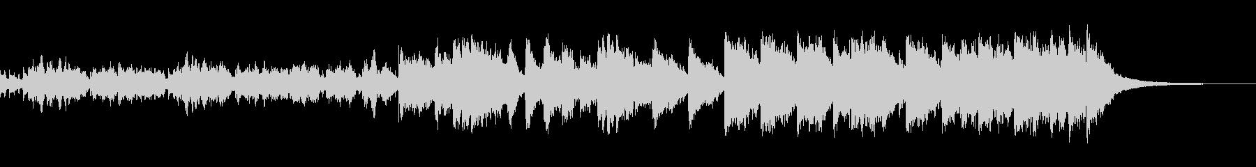 ピアノの高音の響きが近未来的なネオテクノの未再生の波形