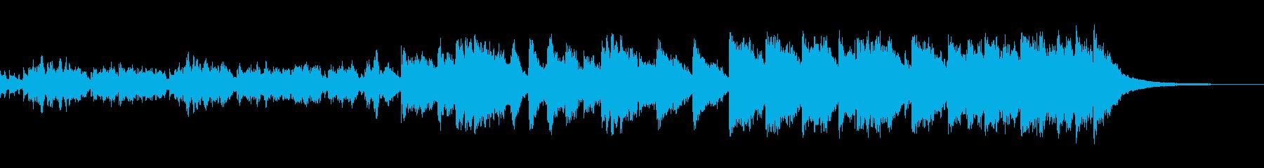 ピアノの高音の響きが近未来的なネオテクノの再生済みの波形