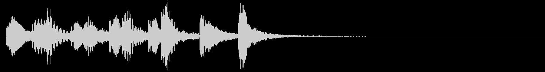 のほほんジングル034_かわいい-3の未再生の波形