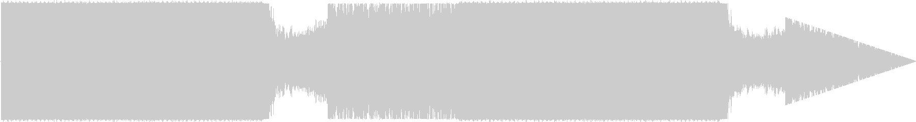キレイなHouseの未再生の波形