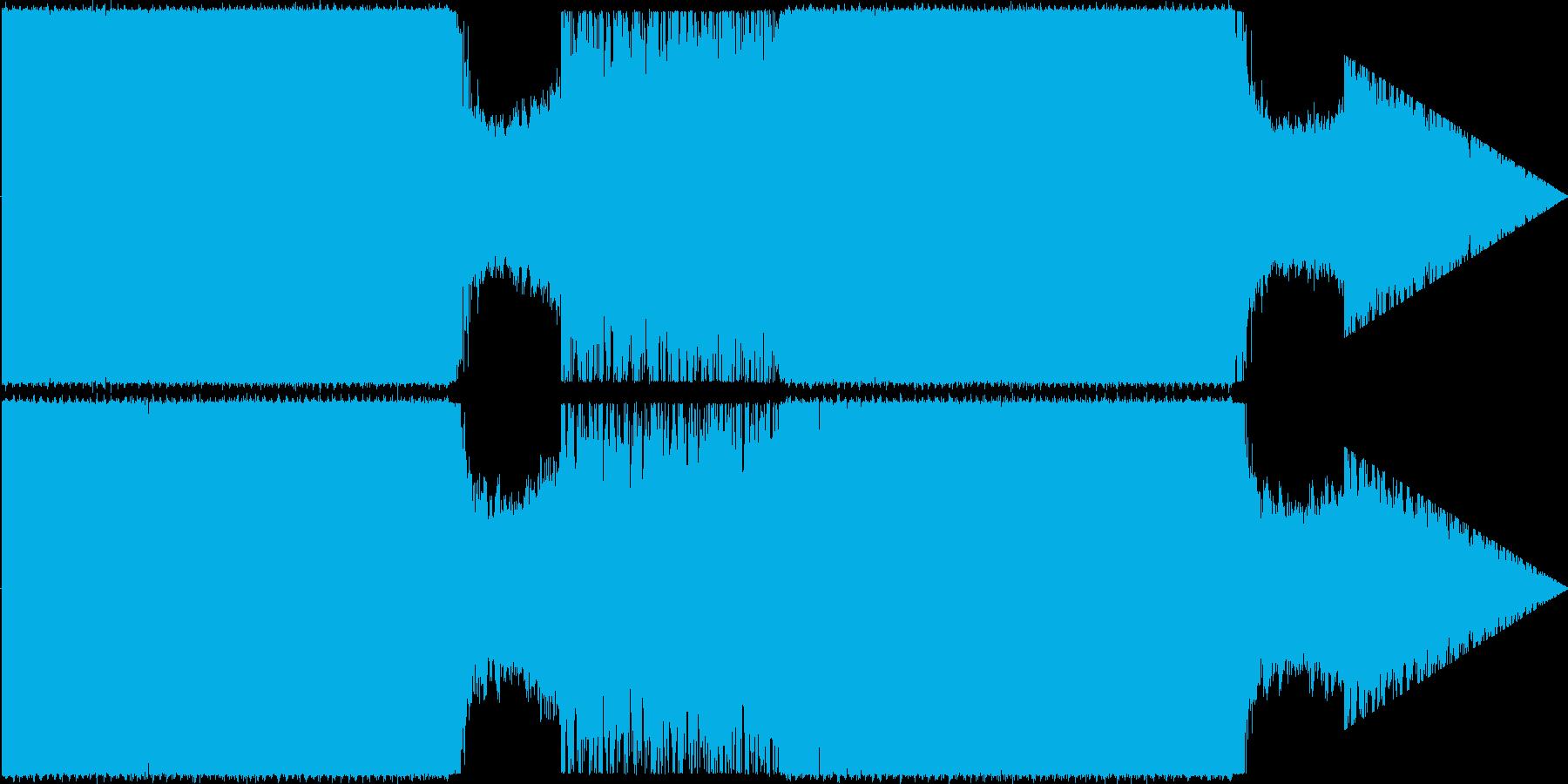 キレイなHouseの再生済みの波形