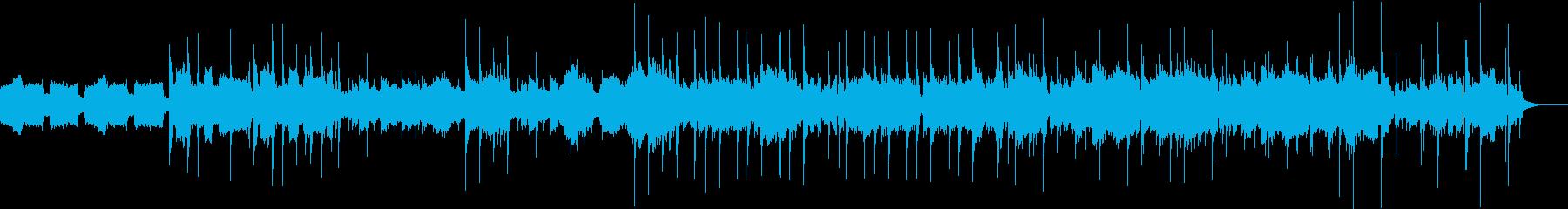 ジャズっぽいゆったりめな曲の再生済みの波形