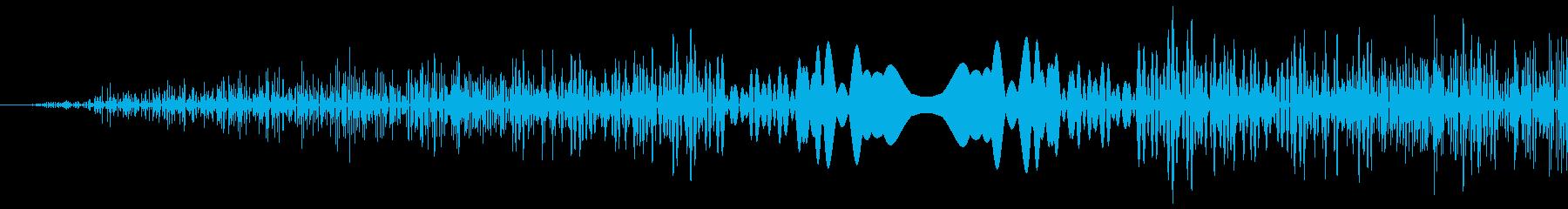 DJプレイ スクラッチ・ノイズ 3 短の再生済みの波形