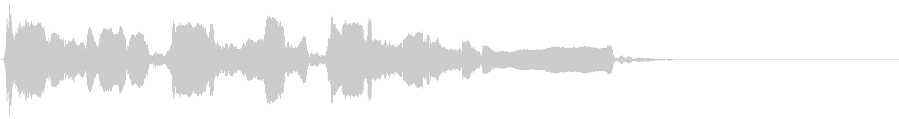 反復長めの終幕◆篠笛生演奏の和風効果音の未再生の波形