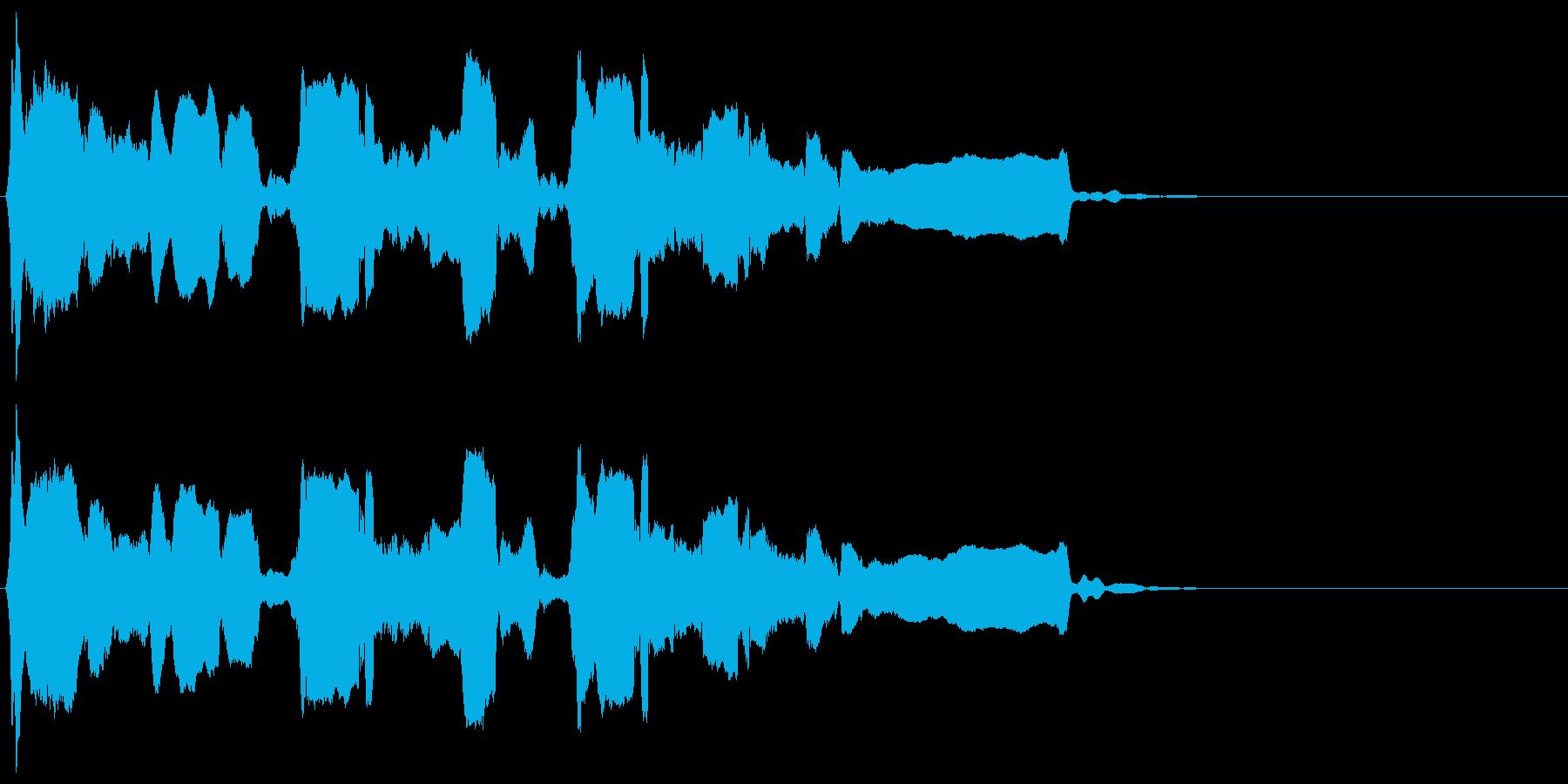 反復長めの終幕◆篠笛生演奏の和風効果音の再生済みの波形