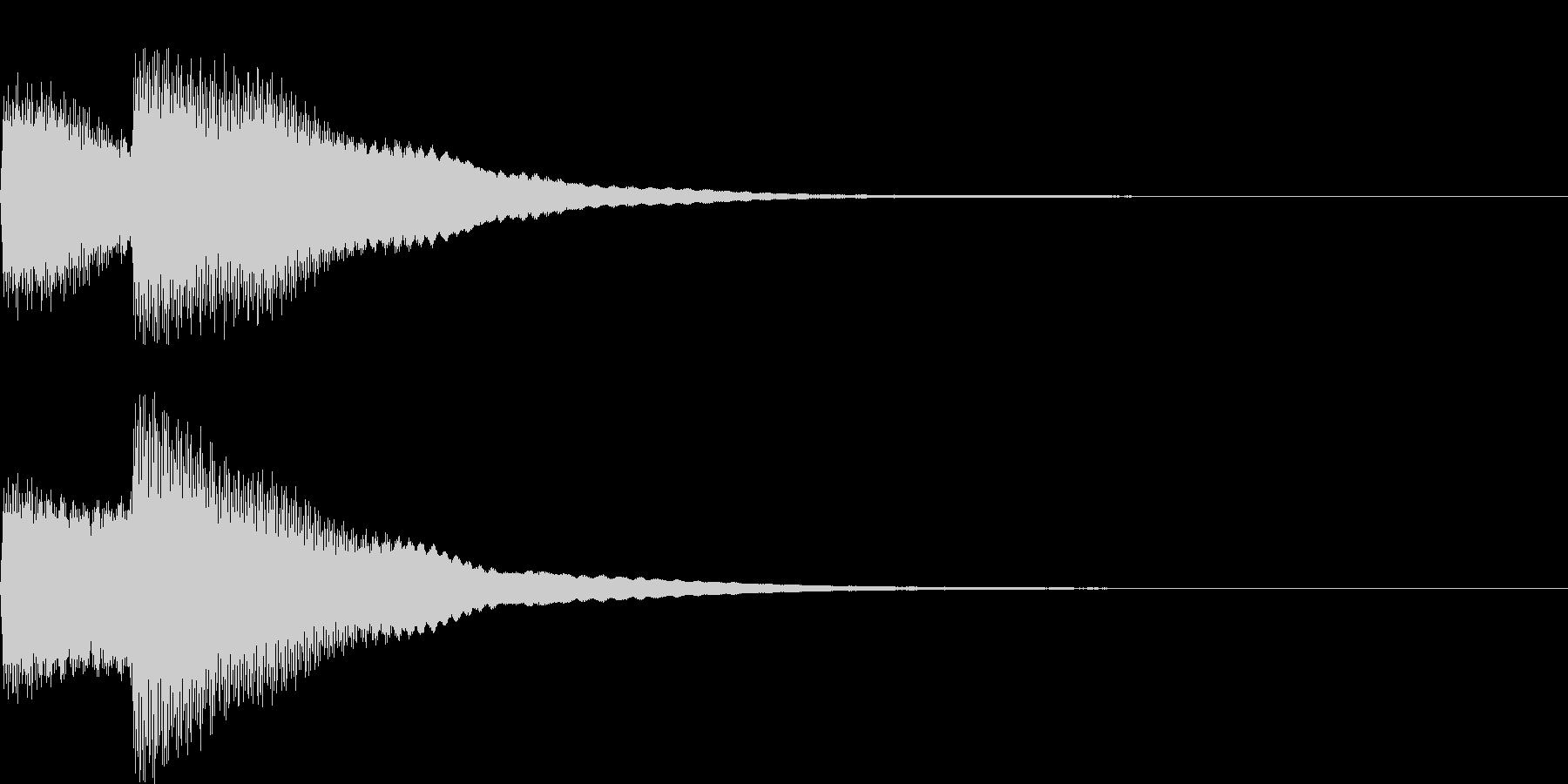 【SE】決定音04(キッキーン)の未再生の波形