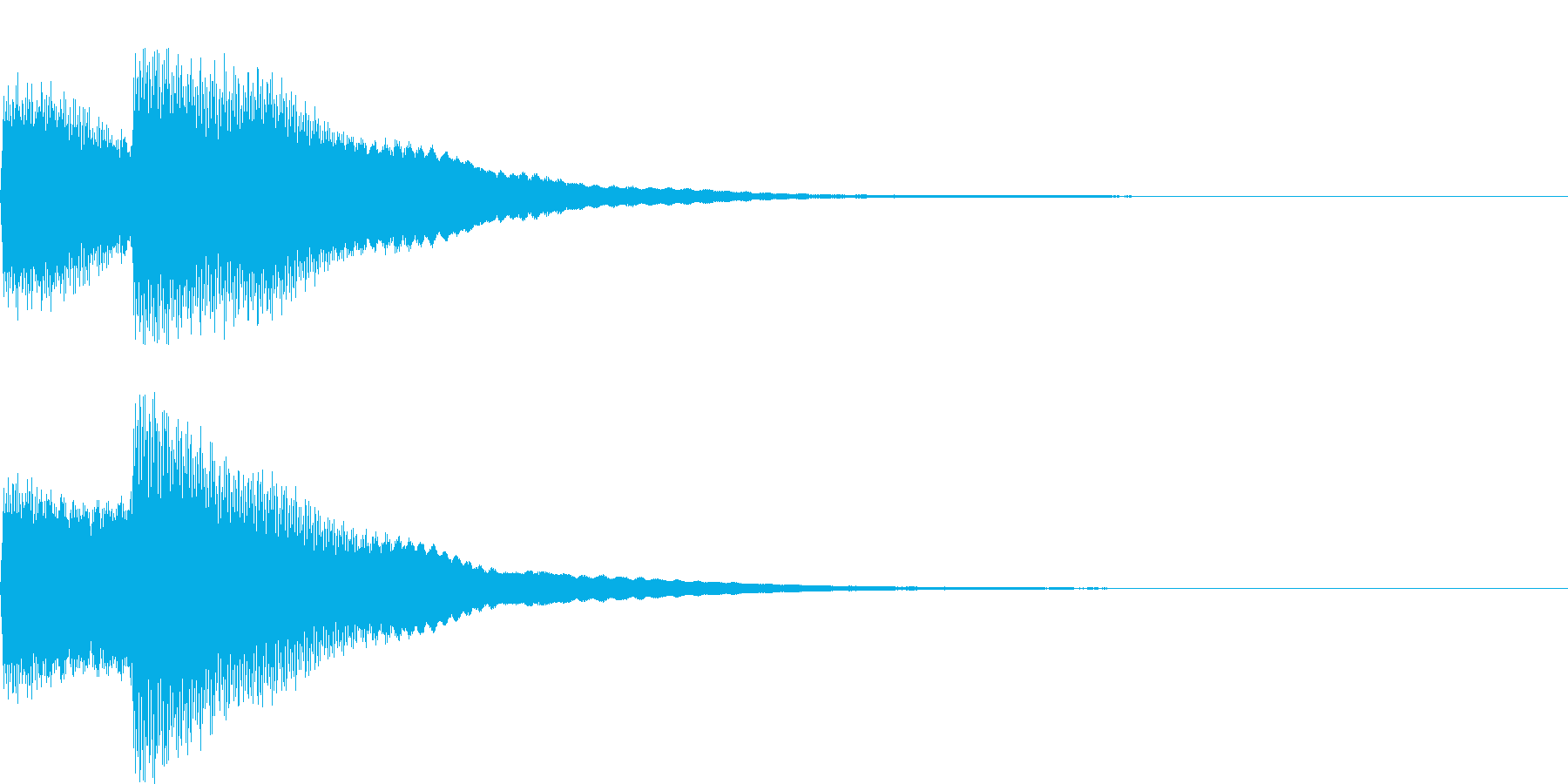 【SE】決定音04(キッキーン)の再生済みの波形