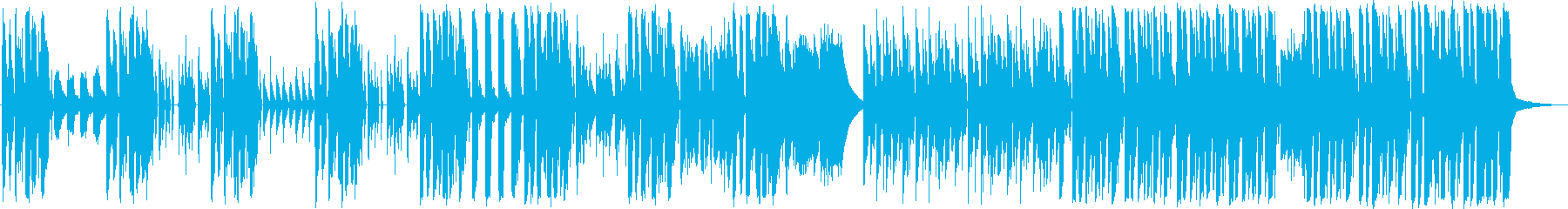 適当にふざけた感じの滑稽な曲(1分間)の再生済みの波形