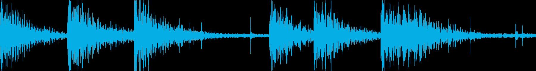 シンプルな和太鼓の盆踊りのループの再生済みの波形