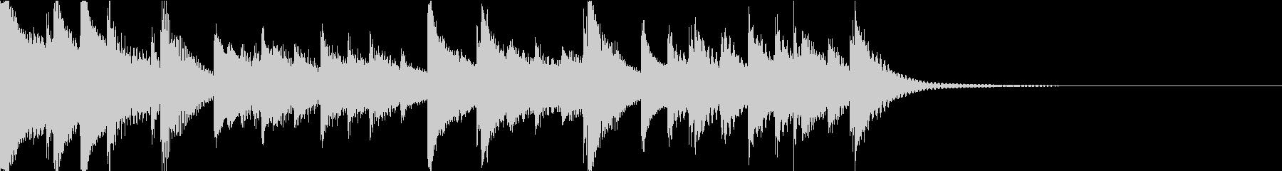 打楽器によるほのぼの系ジングルの未再生の波形