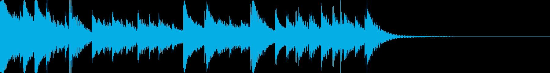 打楽器によるほのぼの系ジングルの再生済みの波形