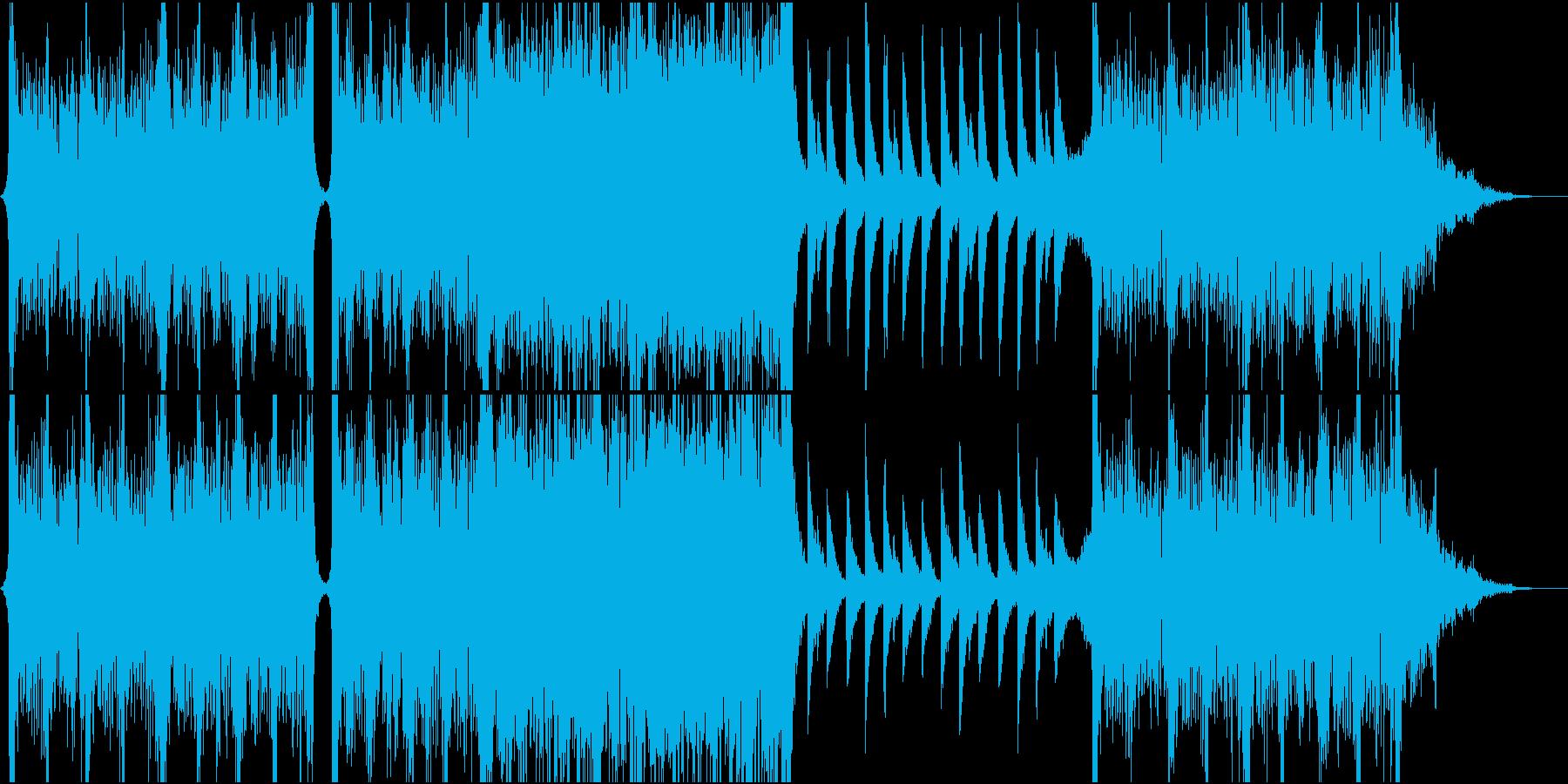 クライマックスシーンに向かう楽曲。の再生済みの波形