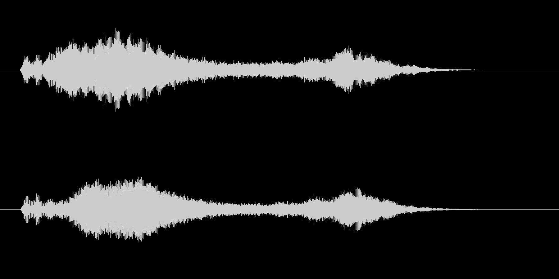 ヴィブラフォン、アンビエント系ジングルの未再生の波形
