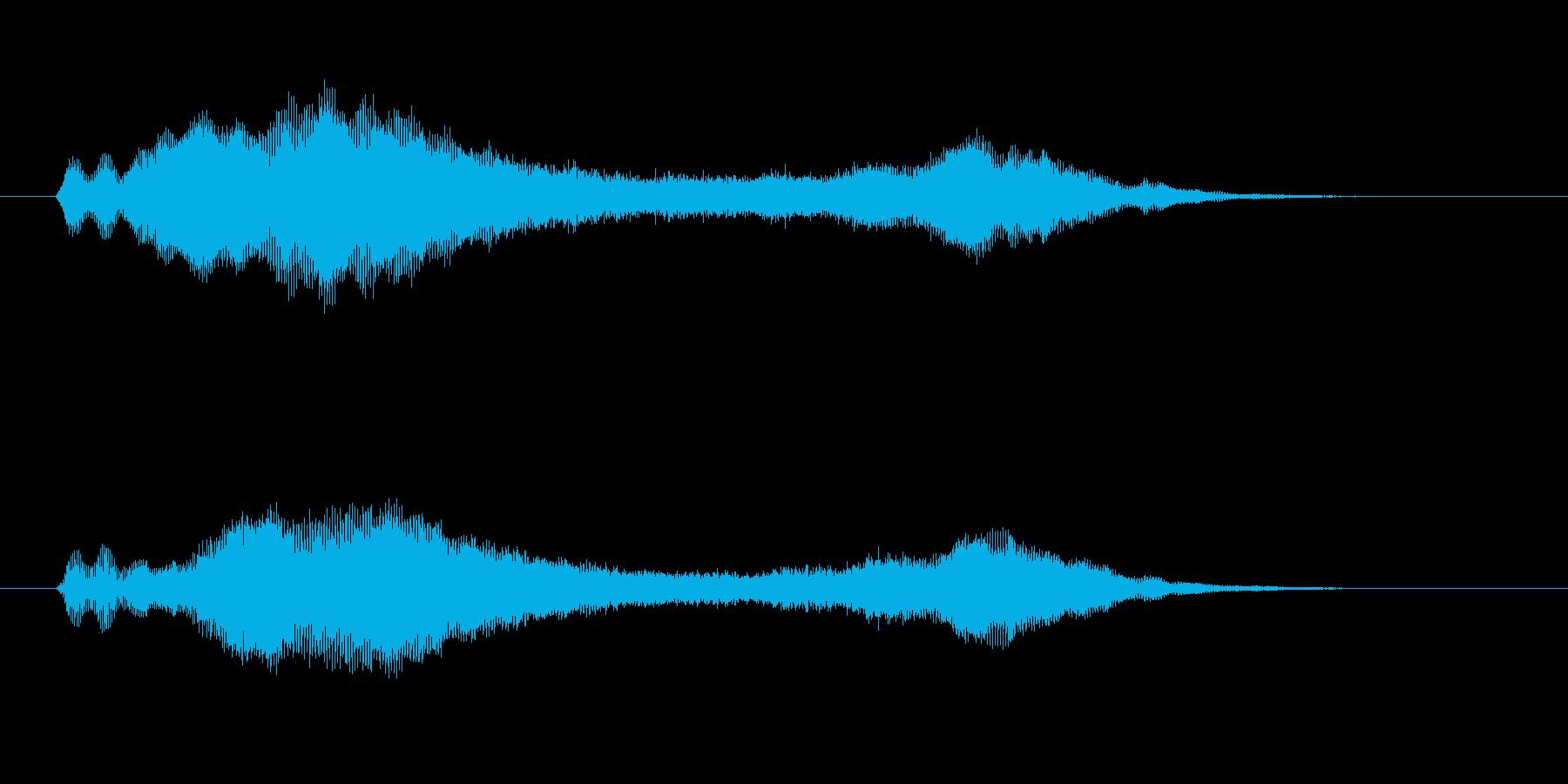 ヴィブラフォン、アンビエント系ジングルの再生済みの波形