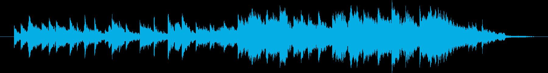 ピアノとストリングスとヴィブラフォンの再生済みの波形