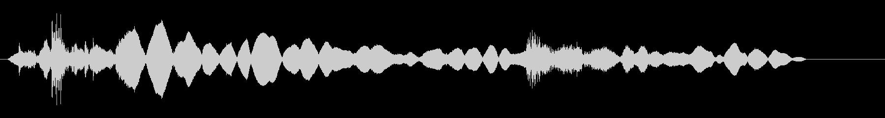 カチャキーィ(鍵開け錆びたドア開く音)の未再生の波形