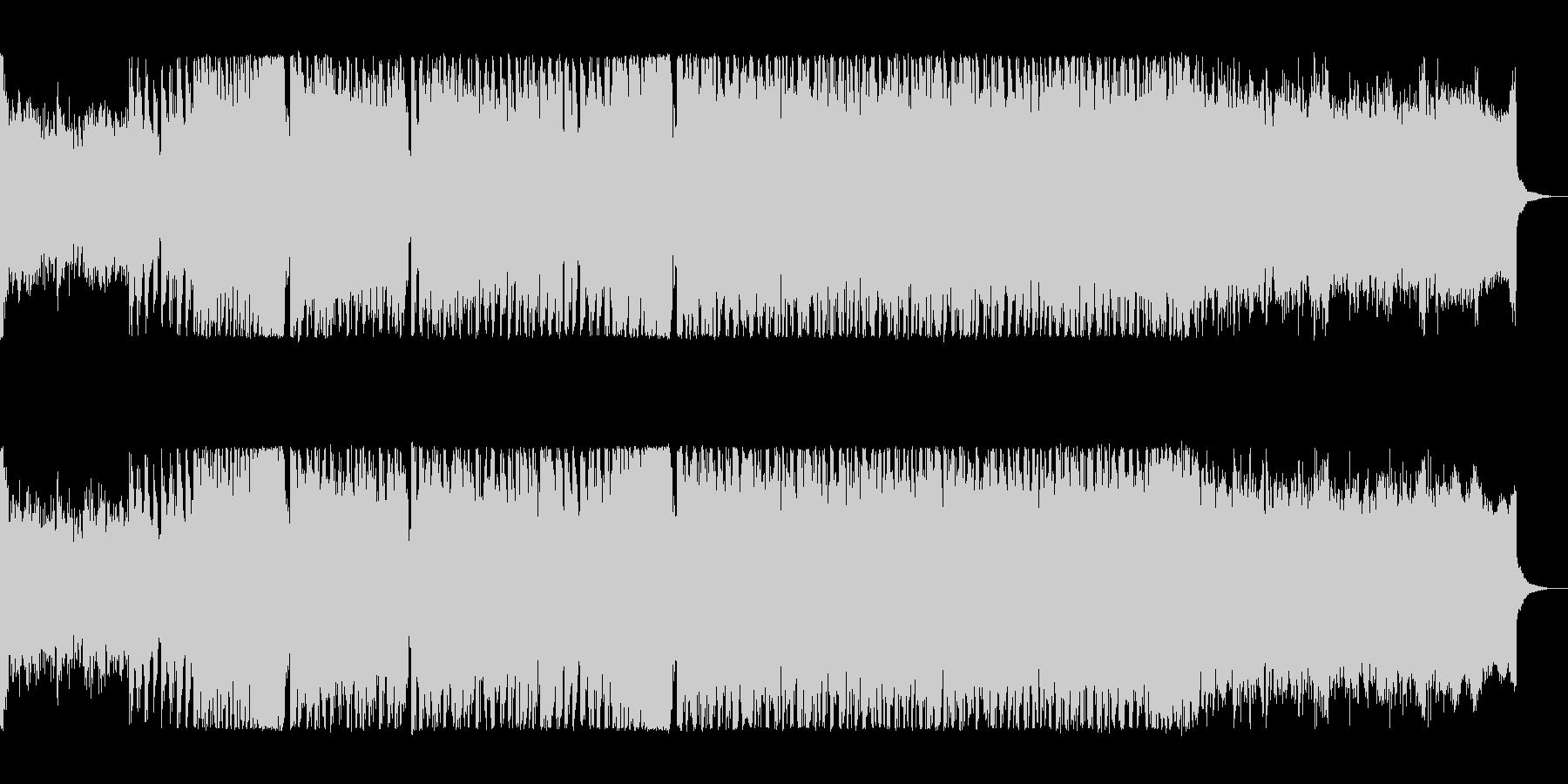 疾走感あるシンセサイザーの曲の未再生の波形